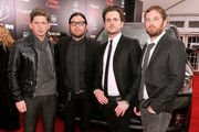 "(L-R) Matthew Followill, Nathan Folllowill, Jared Followill and Caleb Followill of Kings of Leon attend ""August: Osage County"" New York Ciity premiere sponsored by Ram at Ziegfeld Theatre on December 12, 2013 in New York City."