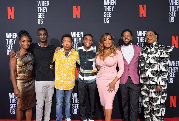 Netflix's 'When They See Us' Screening And Reception [when they see us screening reception,event,carpet,premiere,performance,red carpet,talent show,flooring,stage,marsha stephanie blake,jharrel jerome,niecy nash,aunjanue ellis,caleel harris,ethan herisse,lot,netflix,when they see us screening reception]