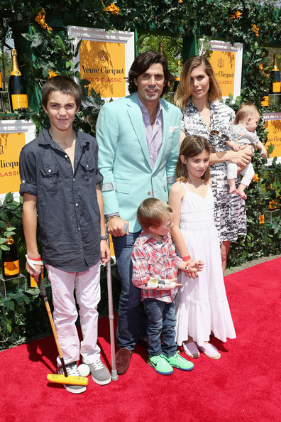 The Sixth Annual Veuve Clicquot Polo Classic - Red Carpet Arrivals [red carpet,carpet,event,flooring,premiere,child,ceremony,family,red carpet arrivals,alba figueras,hilario figueras,nacho figueras,aurora figueras,artemio figueras,delfina blaquier,l-r,jersey city,veuve clicquot polo classic]