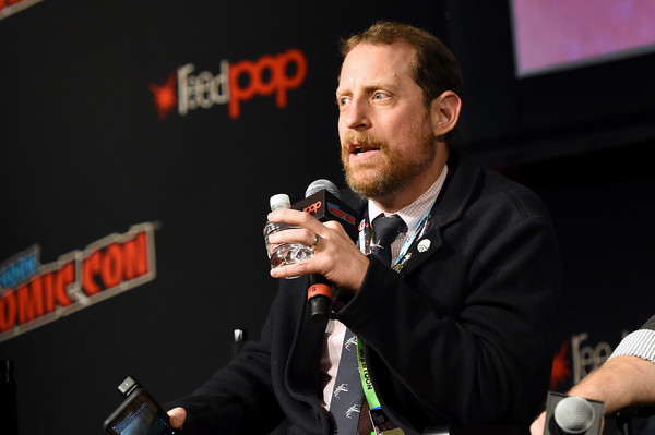 New York Comic Con 2019 - Day 3 [untitled new third series within the walking dead franchise,the walking dead universe,event,spokesperson,news conference,convention,games,austin amelio,hulu theater,madison square garden,new york city,amc,new york comic con,flagship series]