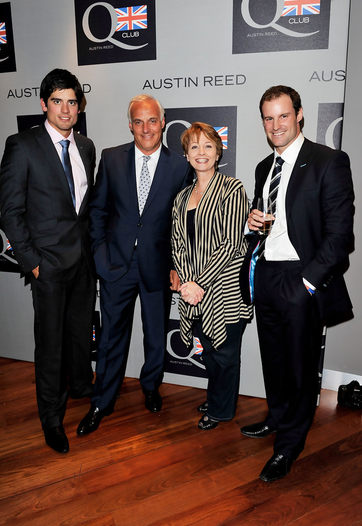 Andrew Strauss Alastair Cook Anne Diamond Nick Hollingworth Alastair Cook And Anne Diamond Photos Zimbio