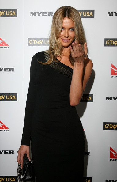 Former Miss Universe Jennifer Hawkins arrives at the Australia Week 2010 Black Tie Gala on January 16, 2010 in Los Angeles, California.
