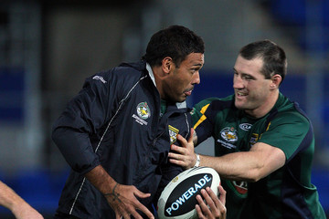 Paull Gallen Australian Kangaroos Training Session and ANZAC Press Conference