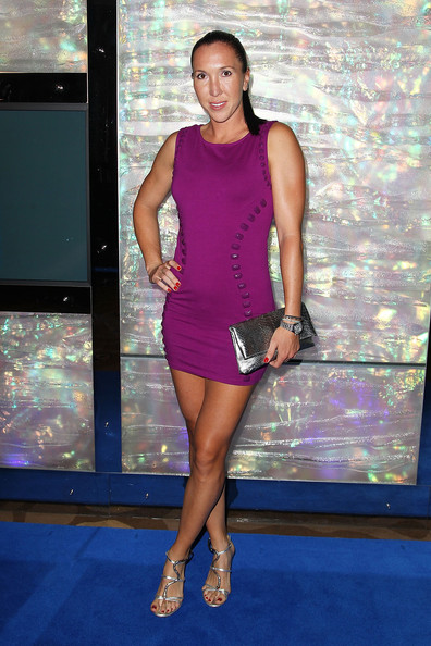 Jelena Jankovic arrives at the official Australian Open player party at the Grand Hyatt on January 11, 2013 in Melbourne, Australia.