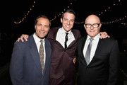 (L-R) Australians in Film Executivie Director Andrew Warne, actor James Mackay and Kim Ledger attend the Australians In Film and Heath Ledger Scholarship Host 5th Anniversary Benefit Dinner on June 12, 2013 in Los Angeles, California.