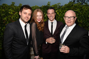 (L-R) Actors Oliver Ackland, Anna McGahan, James Mackay and Kim Ledger attend the Australians In Film and Heath Ledger Scholarship Host 5th Anniversary Benefit Dinner on June 12, 2013 in Los Angeles, California.