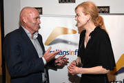 """Senior Executive Vice President of Qantas Stephen Thompson and Nicole Kidman attend Australians In Film Presents """"Lion"""" Screening and Q&A at Harmony Gold Theatre on December 10, 2016 in Los Angeles, California."""