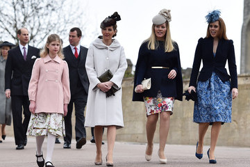 Autumn Phillips Royal Family Attend Easter Sunday Service At Windsor Castle