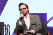Tom Hiddleston attends the press conference for 'Avengers Infinity War' Seoul premiere on April 12, 2018 in Seoul, South Korea.