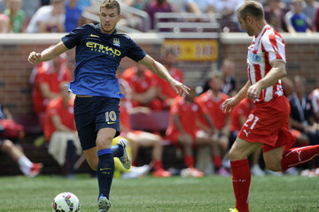 Avraam Papadopoulos Manchester City v Olympiacos