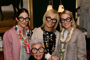 Avril Graham Iris Apfel Hosts Dinner Previewing Her HSN Collection at The Polo Bar