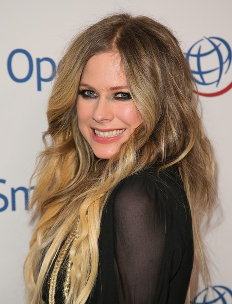 Operation Smile's Hollywood Fight Night Hosted By Brooke Burke And Manny Pacquiao [hair,face,blond,hairstyle,long hair,brown hair,eyebrow,layered hair,hair coloring,beauty,brooke burke,manny pacquiao,avril lavigne,california,los angeles,beverly hilton,operation smile,hollywood fight night]