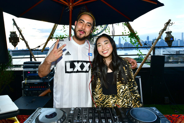 HotelTonight Party Hosted By Awkwafina [electronics,disc jockey,musician,technology,electronic instrument,event,audio equipment,music artist,music,leisure,awkwafina,friend,r,rooftop,dj zo,brooklyn,new york,the williamsburg hotel,hoteltonight party]