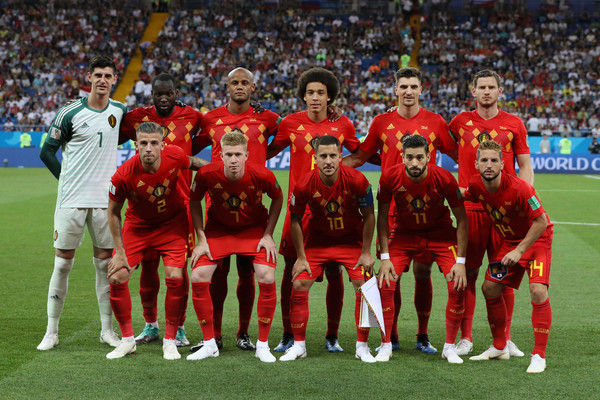 Belgium vs. Japan: Round Of 16 - 2018 FIFA World Cup Russia [team photo,player,sports,team,team sport,sport venue,soccer player,ball game,football player,stadium,sports equipment,belgium,russia,japan,rostov-on-don,rostov arena,team,2018 fifa world cup,round,match]