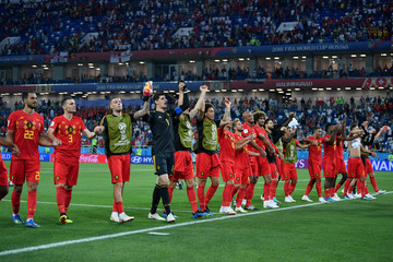 Axel Witsel Nacer Chadli England vs. Belgium: Group G - 2018 FIFA World Cup Russia