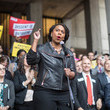 Ayanna Pressley Boston Mayor, Activists Rally To Ask Jeff Flake To Reject Kavanaugh Nomination