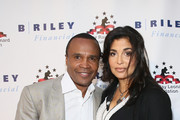"Former Boxer Sugar Ray Leonard (L) and Bernadette Leonard attend B. Riley & Co. And Sugar Ray Leonard Foundation's 6th Annual ""Big Fighters, Big Cause"" Charity Boxing Night at The Ray Dolby Ballroom on May 13, 2015 in Hollywood, California."