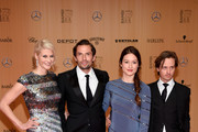(L-R) Natascha Gruen, Quirin Berg, Annie Mosebach and Tom Schilling attend the Bambi Awards 2015 at Stage Theater on November 12, 2015 in Berlin, Germany.