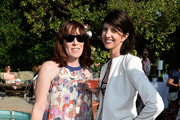 Tara Halloran of the British Film Commission and actress Mia Christou attend the 26th Annual BAFTA LA Garden Party at the British Consuls General Residence on  June 2, 2013 in Los Angeles, California.