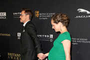 Honoree Robert Downey Jr. (L) and producer Susan Downey attend the BAFTA Los Angeles Jaguar Britannia Awards presented by BBC America and United Airlines at The Beverly Hilton Hotel on October 30, 2014 in Beverly Hills, California.
