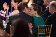 (EXCLUSIVE COVERAGE) Producer Susan Downey (R) and honoree Robert Downey Jr. attend the BAFTA Los Angeles Jaguar Britannia Awards presented by BBC America and United Airlines at The Beverly Hilton Hotel on October 30, 2014 in Beverly Hills, California.