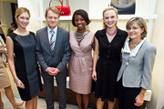 (L to R) Kate Marie Grinold, Swiss Ambassador Manuel Sager, Brandis Friedman, Andrea Powell and Christine Sager attend the BALLY Grand Opening At Tysons Galleria on September 29, 2011 in McLean, United States.