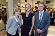(L to R)  Christine Sager, Andrea Powell and Swiss Ambassador Manuel Sager attend the BALLY Grand Opening At Tysons Galleria on September 29, 2011 in McLean, United States.