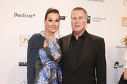 Franziska van Almsick and husband Juergen Harder attend 'BAMBI Awards 2012' at the Stadthalle Duesseldorf on November 22, 2012 in Duesseldorf, Germany.