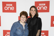 "Sally Wainwright and Suranne Jones attend the BBC One's ""Gentleman Jack"" photocall at Ham Yard Hotel on May 07, 2019 in London, England."