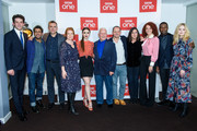 """Josh O'Connor, Adeel Akhtar, Chris Carey, Faith Penhale, Lily Collins, Andrew Davies, Tom Shankland, Bethan Jones, Erin Kellyman, David Oyelowo and Ellie Bamber attend a photocall for BBC One's """"Les Miserables"""" at BAFTA on December 05, 2018 in London, England."""