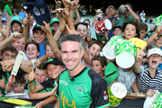Kevin Pietersen with Stars fans after playing in his last game for The Stars  during the Big Bash League match between the Melbourne Stars and and the Hobart Hurricanes at Melbourne Cricket Ground on January 27, 2018 in Melbourne, Australia.