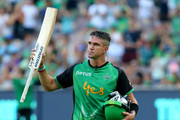 Stars Kevin Pietersen leaves the field after being dismissed in his last game for The Stars  during the Big Bash League match between the Melbourne Stars and and the Hobart Hurricanes at Melbourne Cricket Ground on January 27, 2018 in Melbourne, Australia.