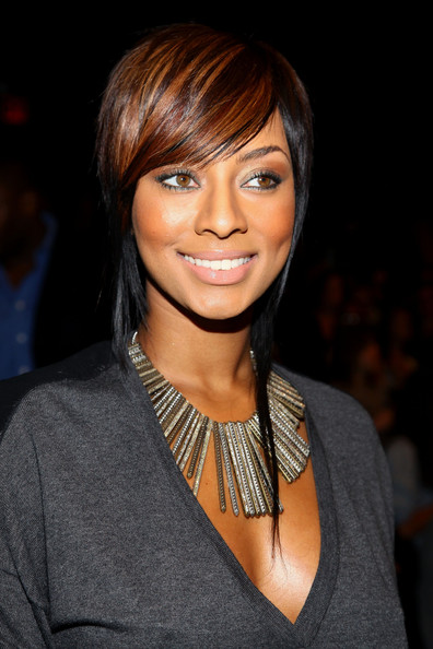 Singer Keri Hilson attends the BCBG Max Azria Spring 2010 Fashion Show at the Tent during Mercedes-Benz Fashion Week at Bryant Park on September 10, 2009 in New York, New York.