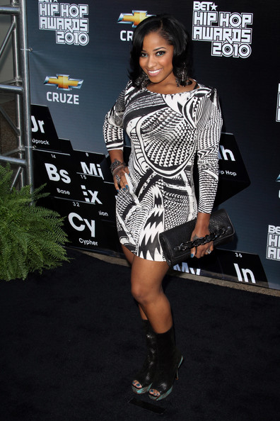 toya carter bob haircut. Toya Carter attends the BET