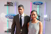 TV personality Fonzworth Bentley (L) and actress Faune A. Chambers attend the BET AWARDS '14 at Nokia Theatre L.A. LIVE on June 29, 2014 in Los Angeles, California.
