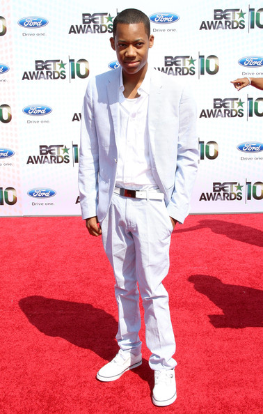 Actor Tyler James Williams arrives at the 2010 BET Awards held at the Shrine Auditorium on June 27, 2010 in Los Angeles, California.