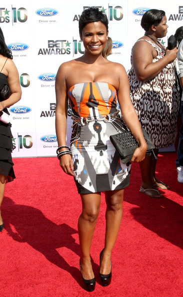 Actress Nia Long arrives at the 2010 BET Awards held at the Shrine Auditorium on June 27, 2010 in Los Angeles, California.