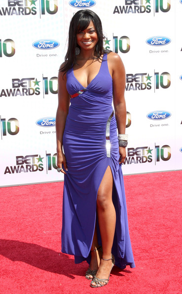 Actress Tatyana Ali arrives at the 2010 BET Awards held at the Shrine Auditorium on June 27, 2010 in Los Angeles, California.