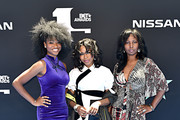 (L-R) Reiya Downs, Riele Downs, and Elle Downs attend the 2019 BET Awards at Microsoft Theater on June 23, 2019 in Los Angeles, California.