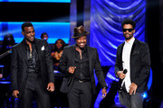 (L-R) Luke James, Anthony Hamilton, and Eric Benet perform onstage at BET's Black Girls Rock 2012 at Paradise Theater on October 13, 2012 in New York City.
