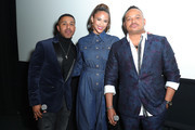 """(L-R) Marques Houston, Paula Patton and Chris Stokes attend BET+ And Footage Film's """"Sacrifice"""" Premiere Event at Landmark Theatre on December 11, 2019 in Los Angeles, California."""