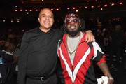Irv Gotti and T-Pain attend the BET Hip Hop Awards 2017 at The Fillmore Miami Beach at the Jackie Gleason Theater on October 6, 2017 in Miami Beach, Florida.