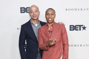BET President Scott Mills and Executive Producer Lena Waithe attend the Boomerang Season 2 Premiere on March 10, 2020 in Los Angeles, California.