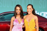 Elise Neal (L) and Robin Thede attend the 2017 Soul Train Awards, presented by BET, at the Orleans Arena on November 5, 2017 in Las Vegas, Nevada.