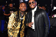Jacquees (L) and Raheem Devaughn attend the 2018 Soul Train Awards, presented by BET, on November 17, 2018 in Las Vegas, Nevada.