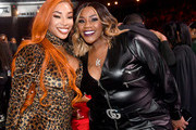 Sky Days and Kelly Price attend the 2019 Soul Train Awards presented by BET at the Orleans Arena on November 17, 2019 in Las Vegas, Nevada.