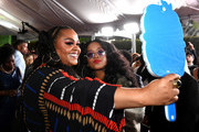 (L-R) Jill Scott and H.E.R. attend the 51st NAACP Image Awards, Presented by BET, at Pasadena Civic Auditorium on February 22, 2020 in Pasadena, California.