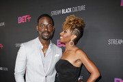 Sterling K. Brown and Ryan Michelle Bathe attend the BET+ red carpet and launch party at NeueHouse Los Angeles on September 19, 2019 in Hollywood, California.