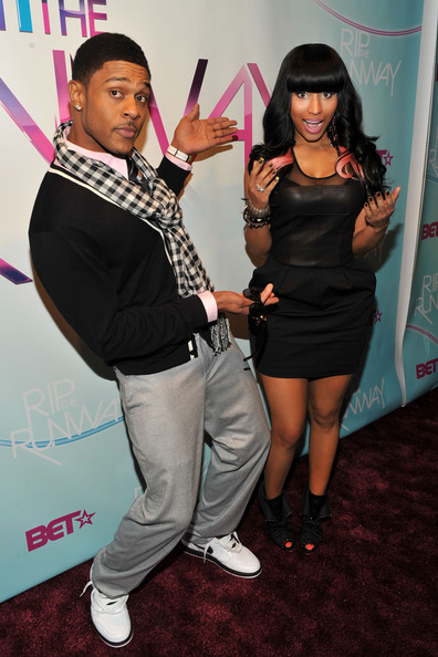 Actor Pooch Hall and Singer Nicki Minaj attend BET's Rip The Runway 2010 at the Hammerstein Ballroom on February 27, 2010 in New York City.