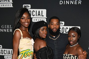 (L-R) Leomie Anderson, Sandra Lambeck, King Keraun, and Bee attend BET's Social Awards 2018 - It Girls Welcome Dinner on February 10, 2018 in Atlanta, Georgia.